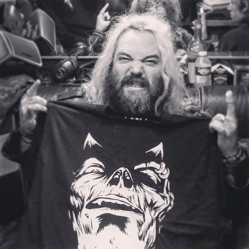 Max Cavalera with Mosher Clothing T-shirt (not an endorsement)