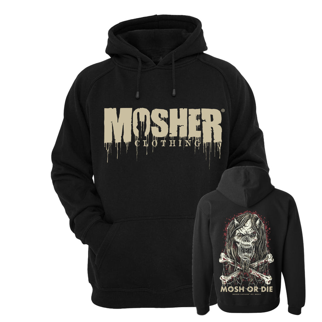 Mosher Clothing - Mosh or Die Hoodie for metalheads worldwide!