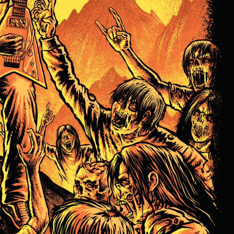 Moshpit Doom - Detail of the tshirt for metalhead by Mosher Clothing