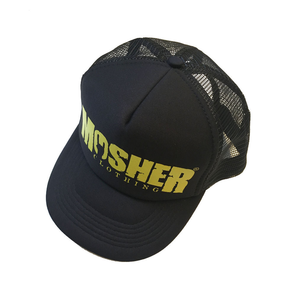 Yellow Mosher Trucker Hat - Mosher Clothing
