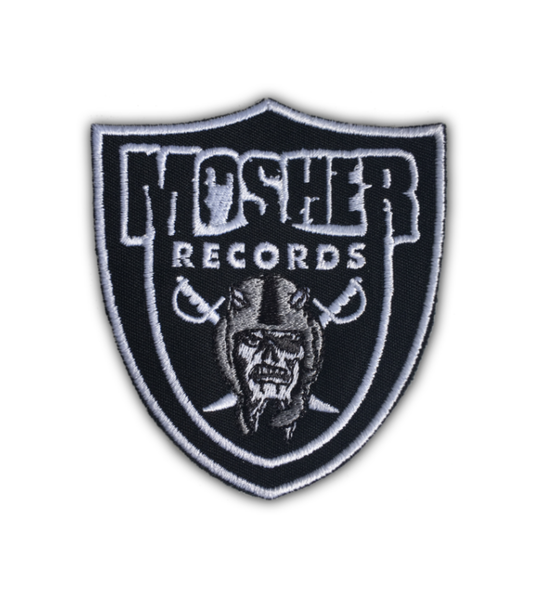Mosher Records patch by Mosher Clothing