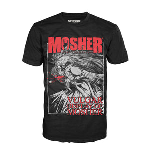 Vulgar Display of Mosher t-shirt for metalheads by Mosher Clothing
