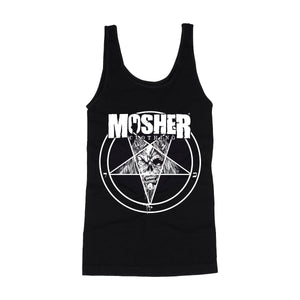 Women's Mosher Pete-agram tanktop for metalheads by Mosher Clothing
