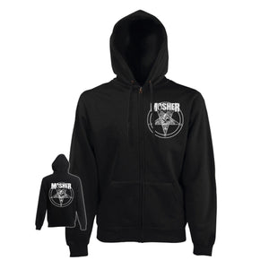 Mosher Pete-agram Zipped Hoodie by Mosher Clothing