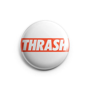 Thrash Metal Pin Badge for metalheads by Mosher Clothing