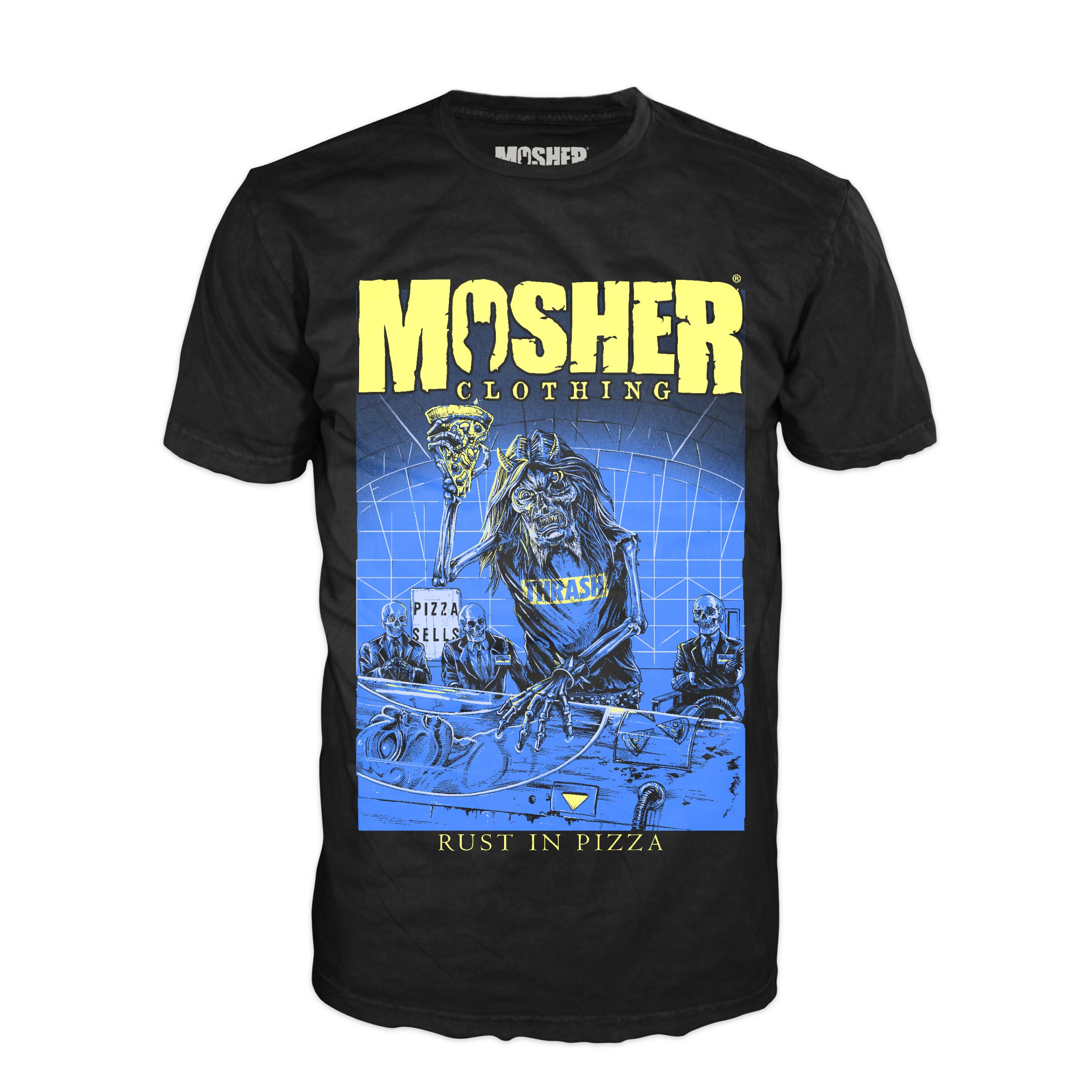 43034b1d Mosher Clothing - Rust in Pizza T-Shirt for Metalheads