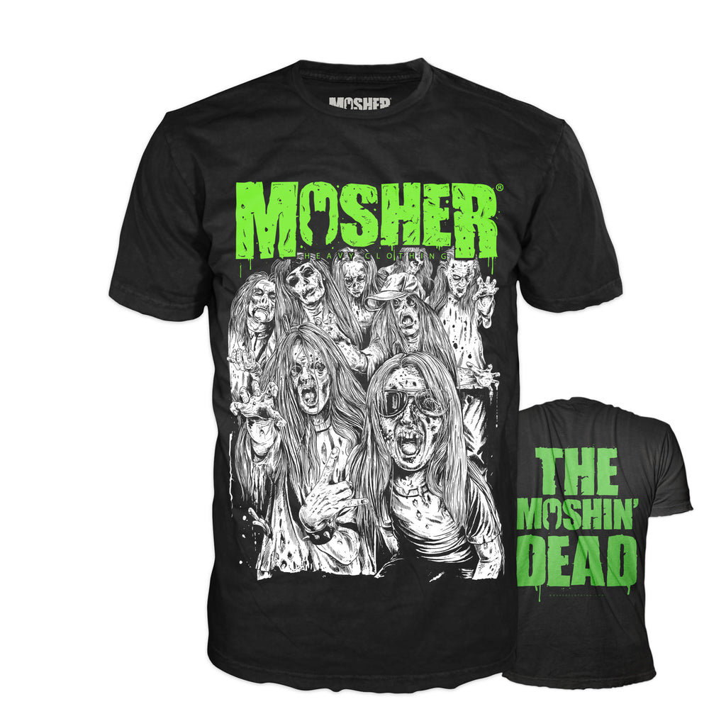 The Moshin' Dead t-shirt for metalheads by Mosher Clothing