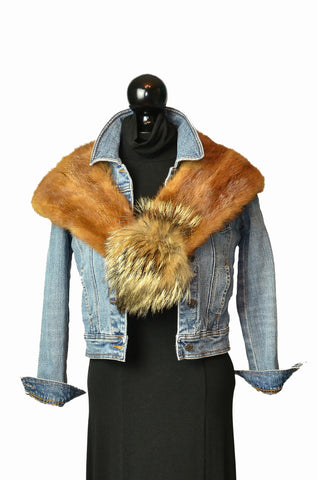 Chinese mink fur collar|Collet de fourrure vison chinois
