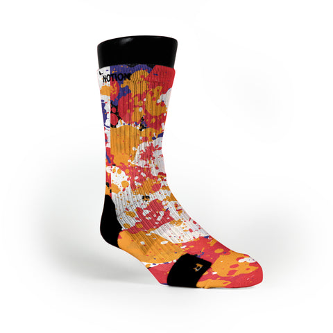 3 Peat Splatter Custom Notion Socks
