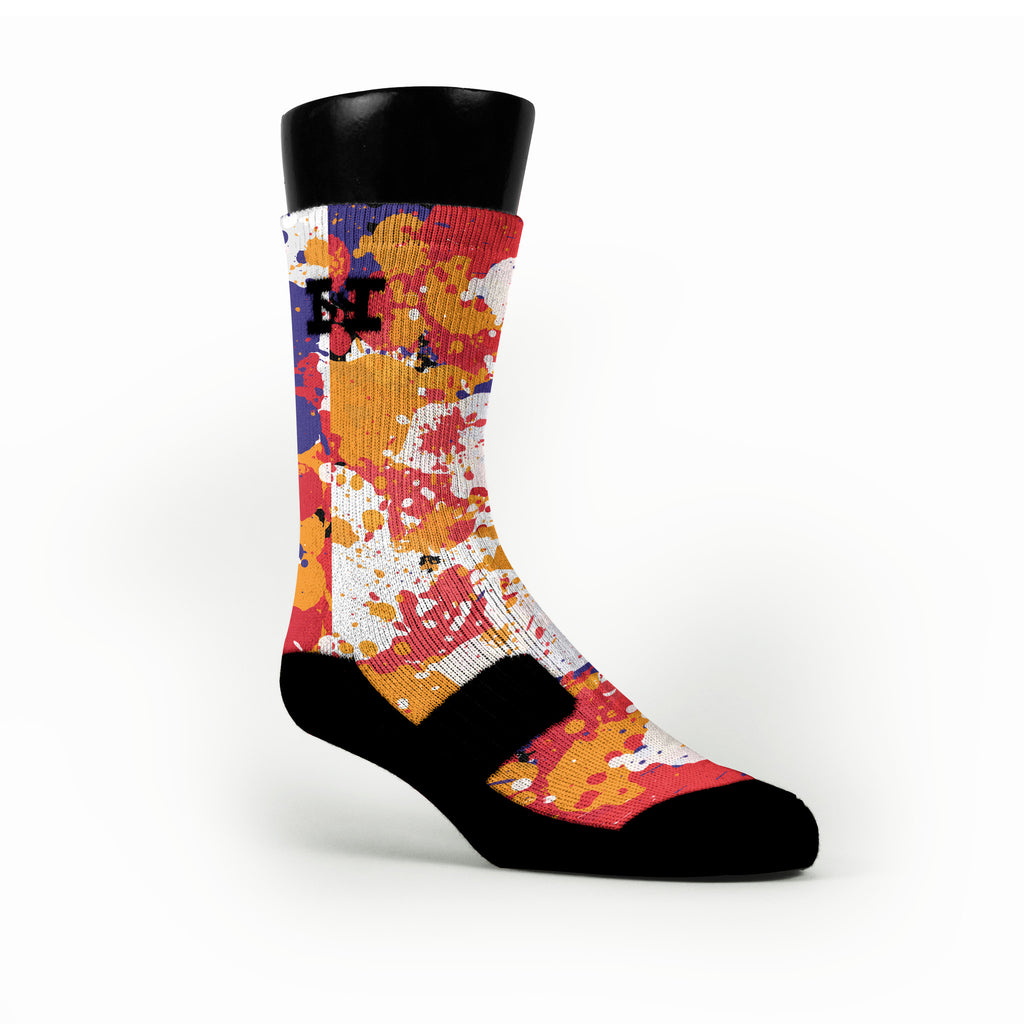 3 Peat Splatter Custom HoopSwagg Socks
