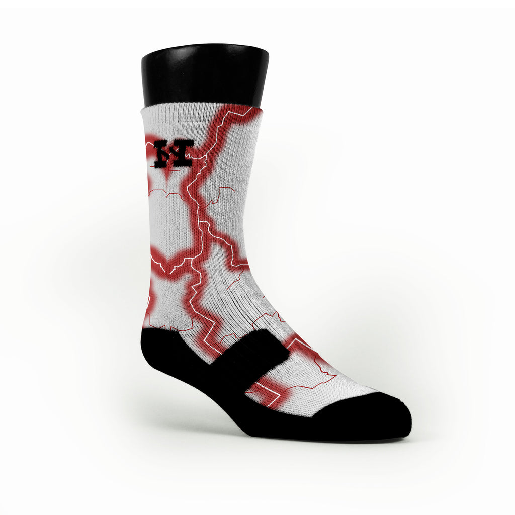 Alabama Storm Custom HoopSwagg Socks