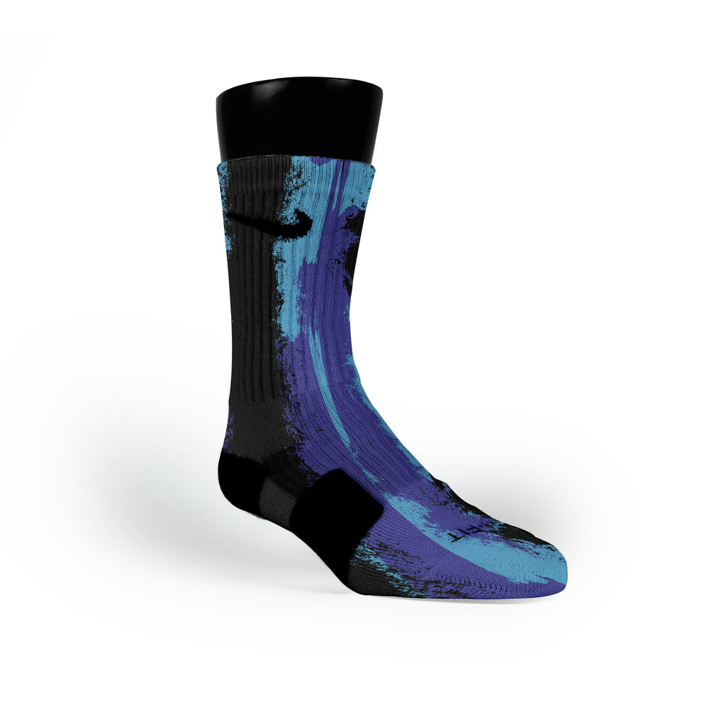 Aqua Eruption Custom Nike Elite Socks