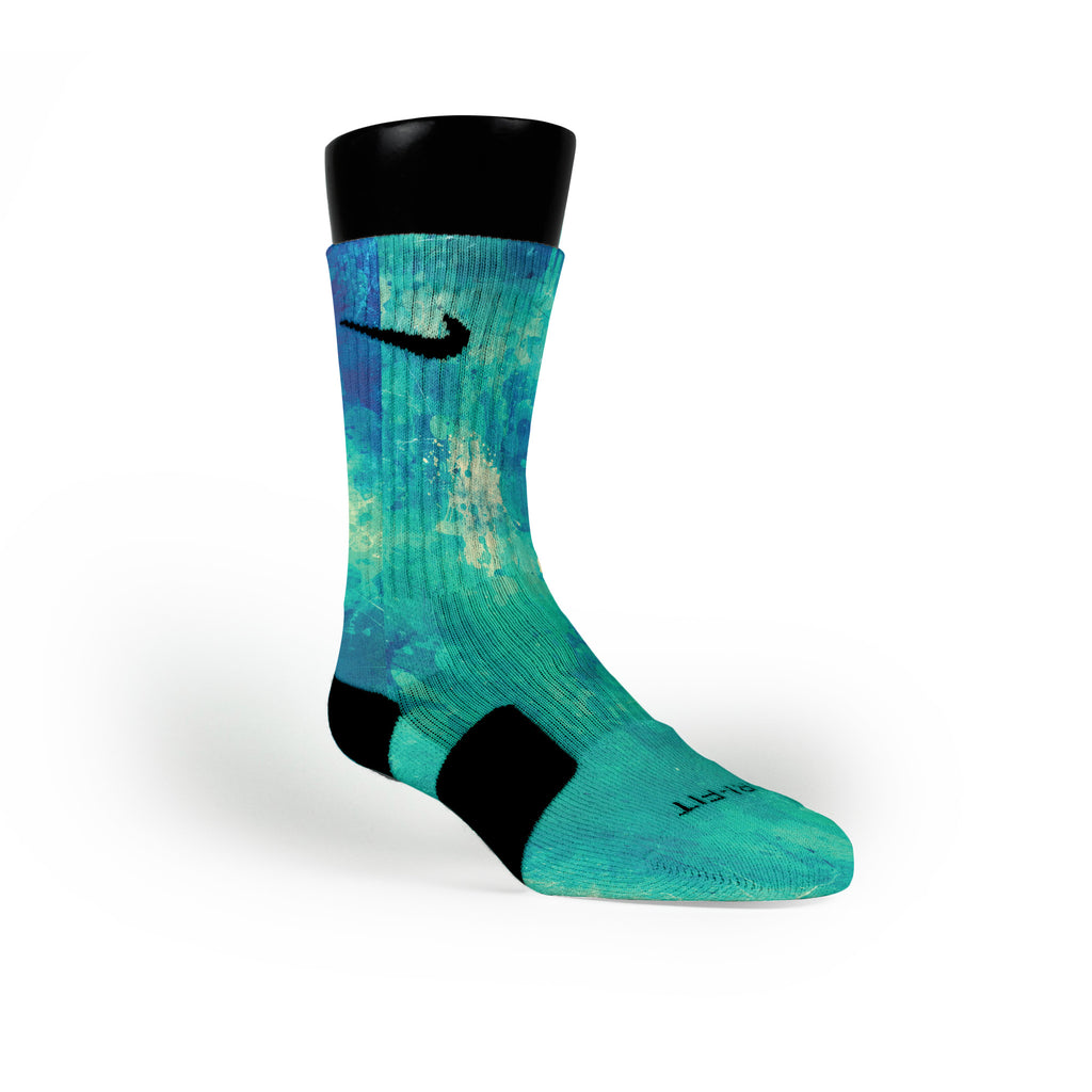 Aqua Splash Custom Nike Elite Socks
