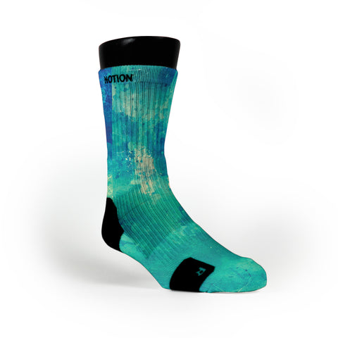 Aqua Splash Custom Notion Socks