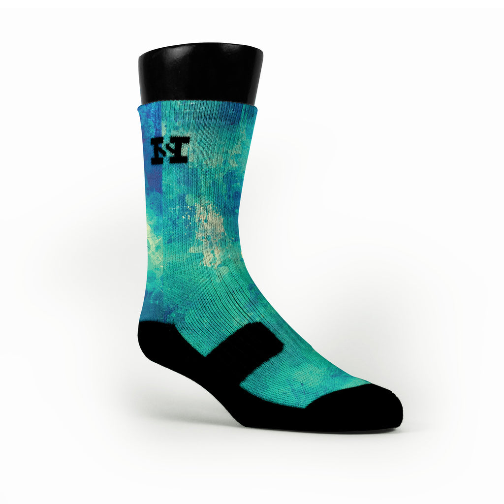 Aqua Splash Custom HoopSwagg Socks