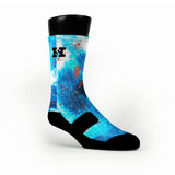 Arctic Galaxy Custom HoopSwagg Socks
