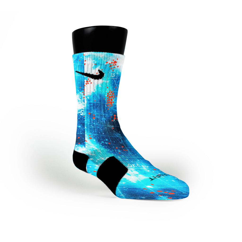 Arctic Galaxy Custom Nike Elite Socks