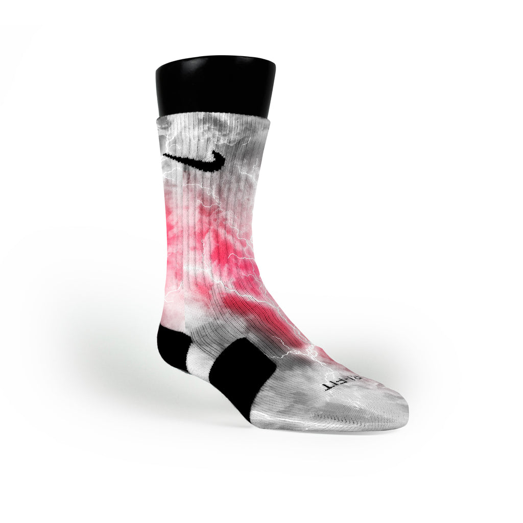 Ash Thunder Custom Nike Elite Socks
