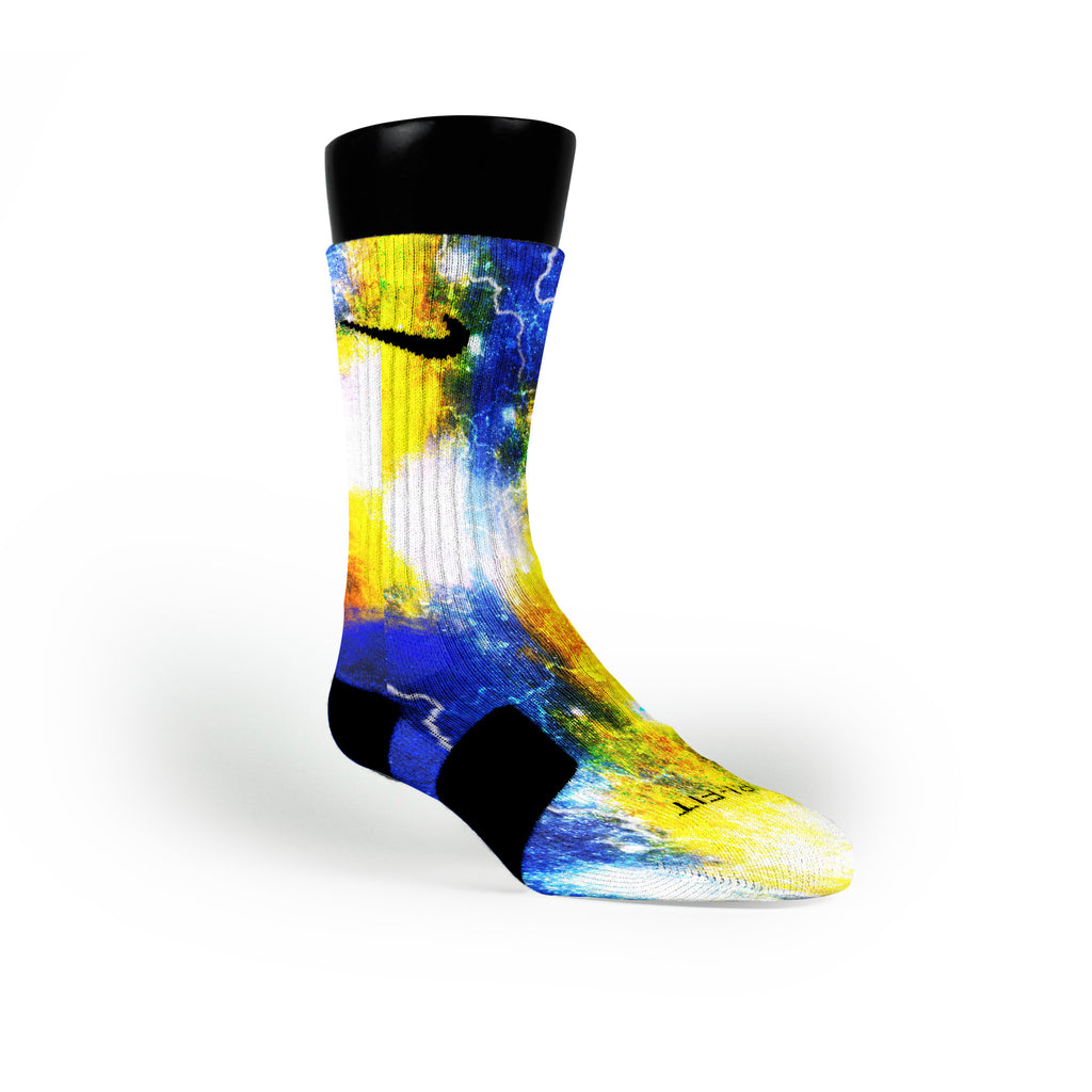Astro Galaxy Custom Nike Elite Socks