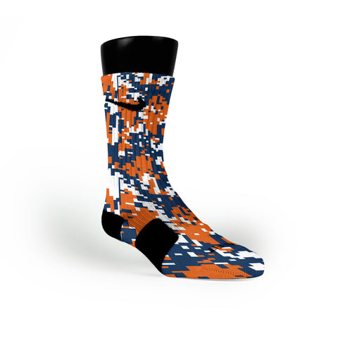Auburn Digital Camo Custom Nike Elite Socks
