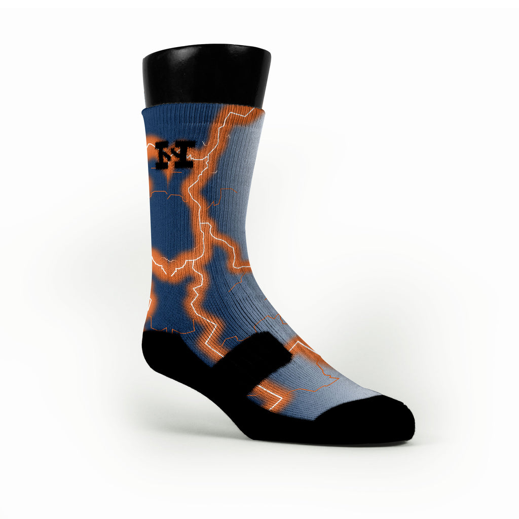 Auburn Storm Custom HoopSwagg Socks