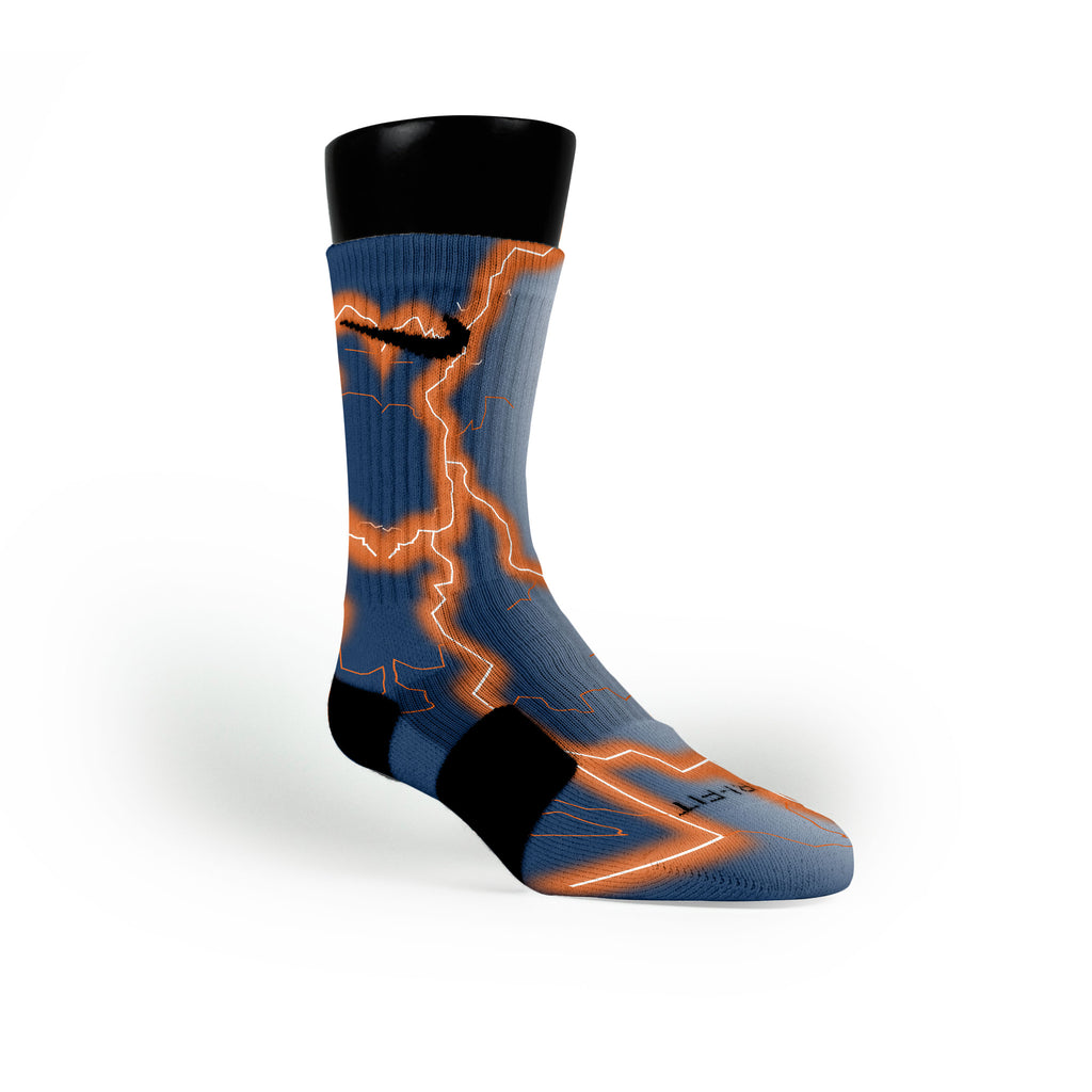 Auburn Storm Custom Nike Elite Socks