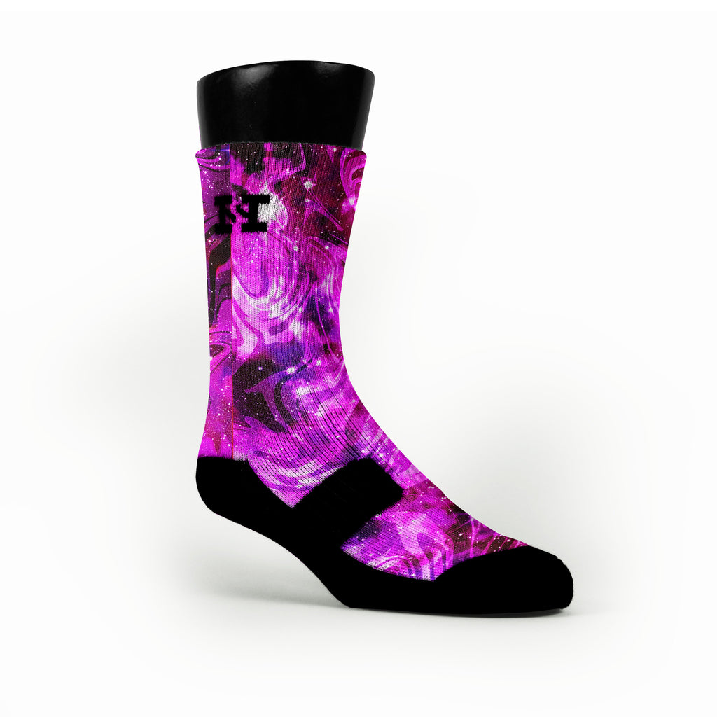 Barkley Galaxies Custom HoopSwagg Socks