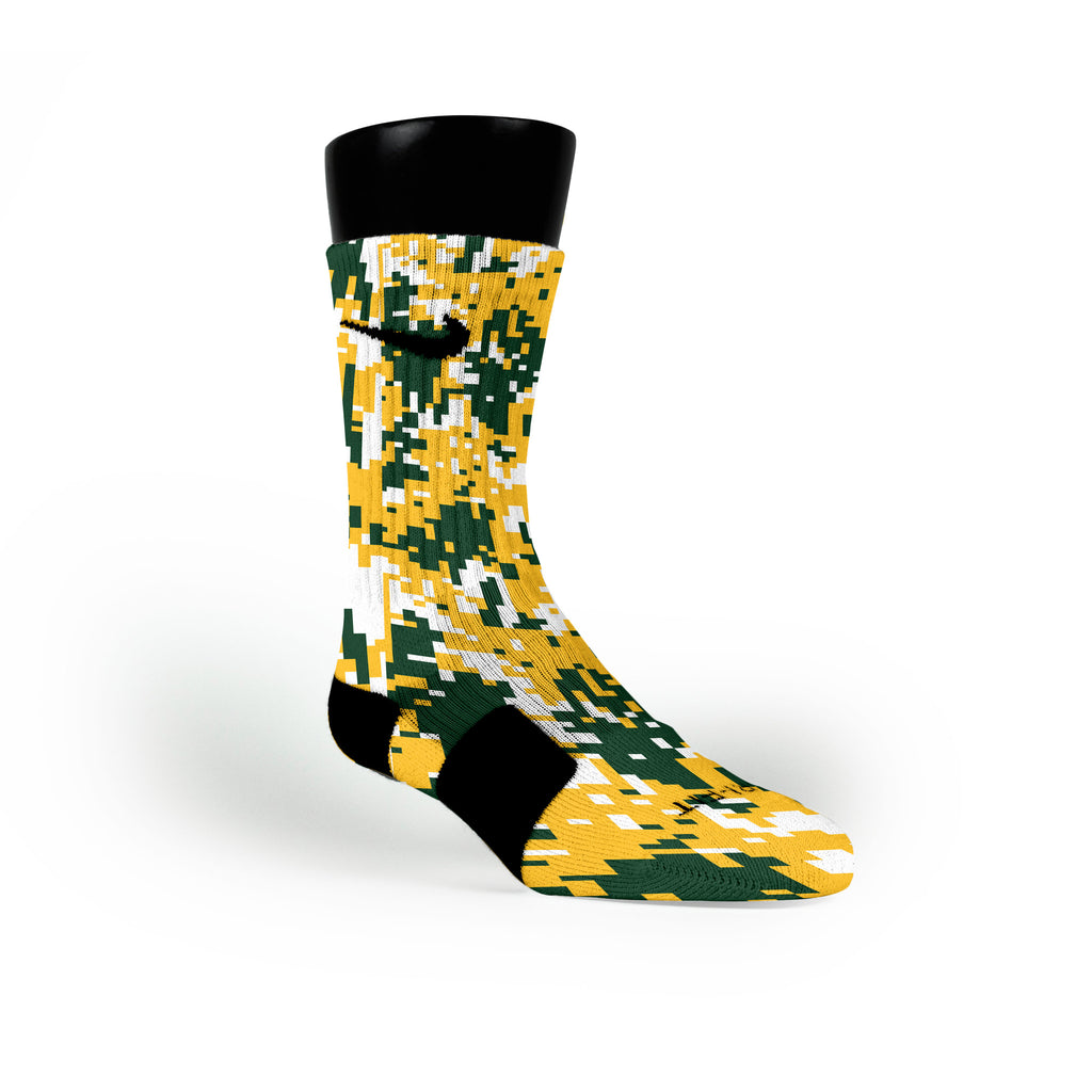 Baylor Digital Camo Custom Nike Elite Socks