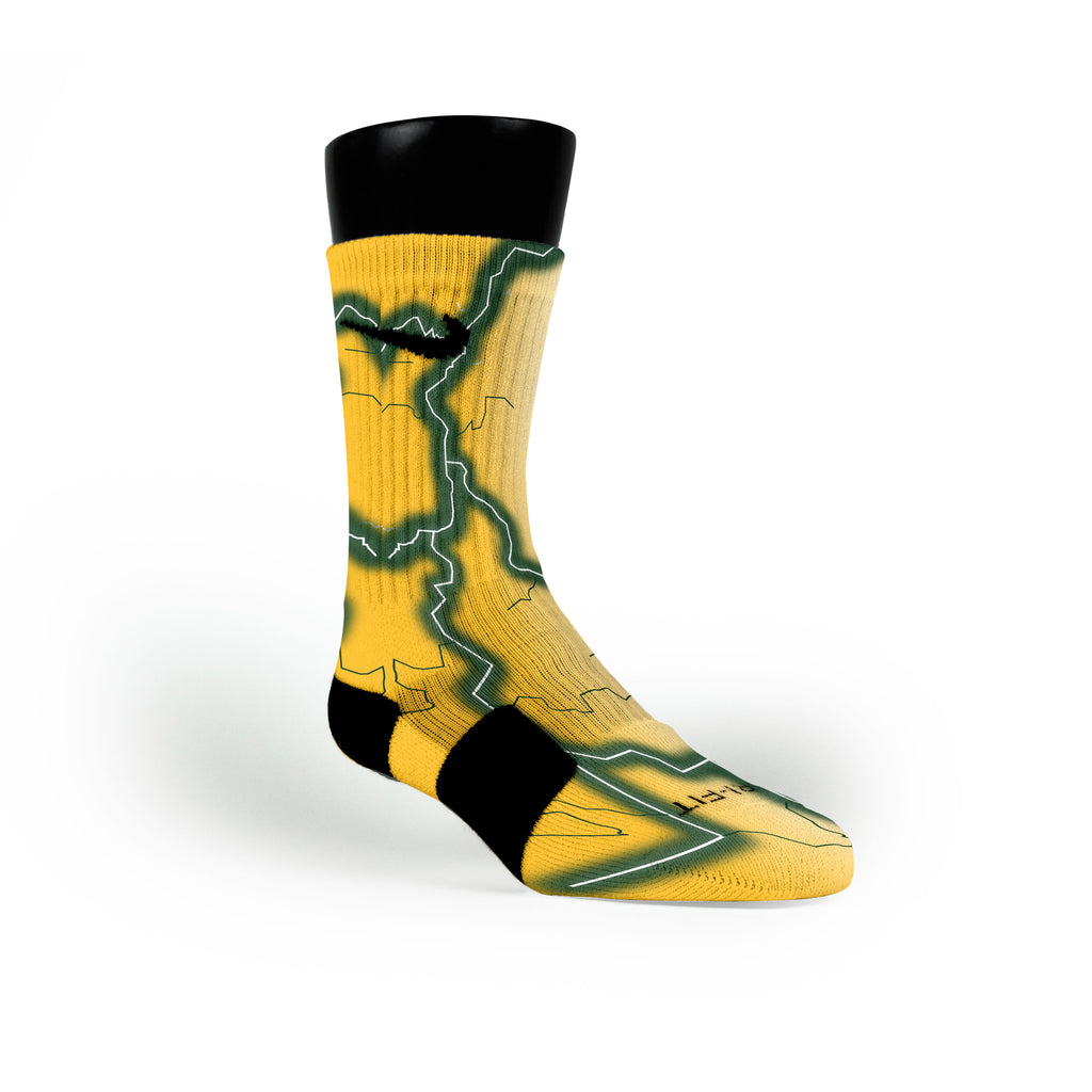 Baylor Storm Custom Nike Elite Socks