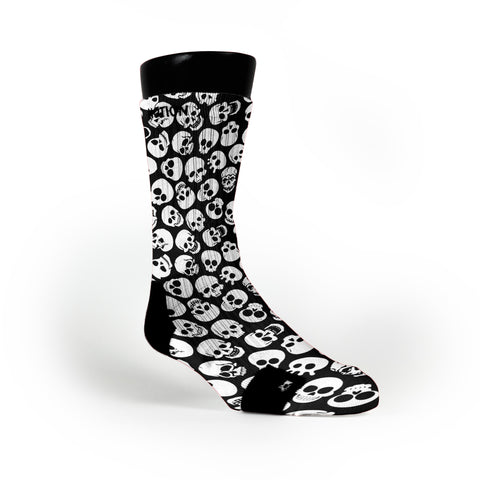 Black Skulls Custom Notion Socks