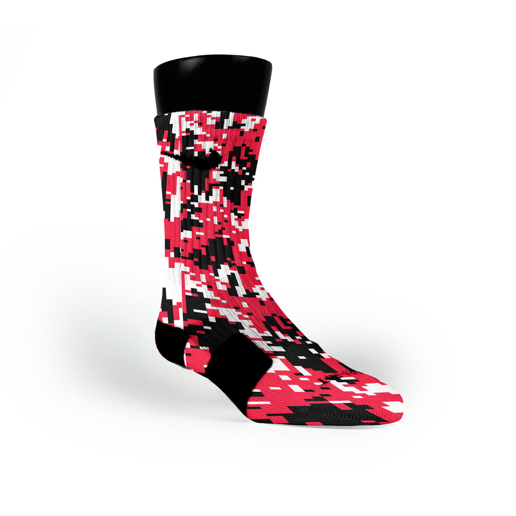 Blazer Digital Camo Custom Nike Elite Socks