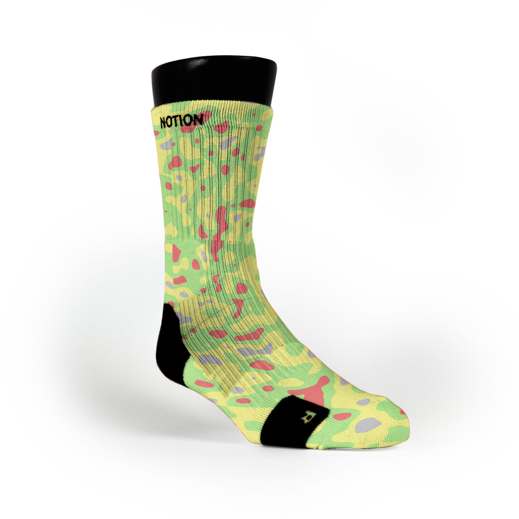 Blob Camo Custom Notion Socks
