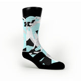 Blue & Black Hardwood Camo Custom HoopSwagg Socks
