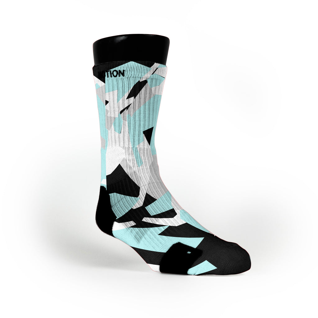 Blue & Black Hardwood Camo Custom Notion Socks