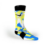 Blue & Yellow Hardwood Camo Custom Nike Elite Socks