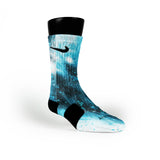 Blue Barkley Galaxies Custom Nike Elite Socks