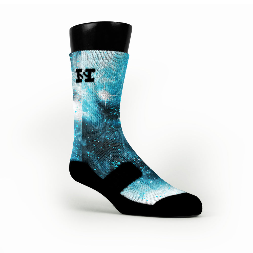 Blue Barkley Galaxies Custom HoopSwagg Socks