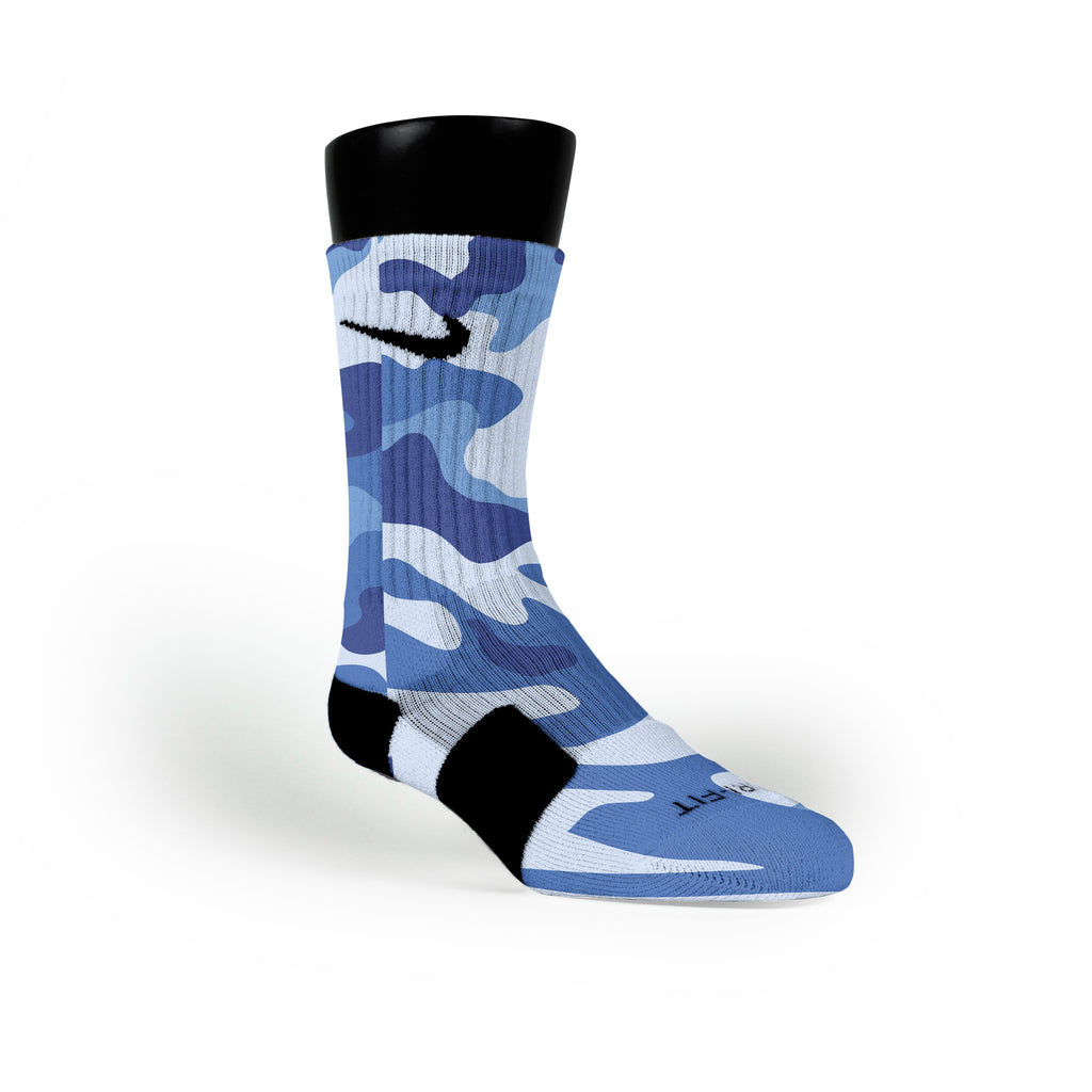 Blue Camo Custom Nike Elite Socks