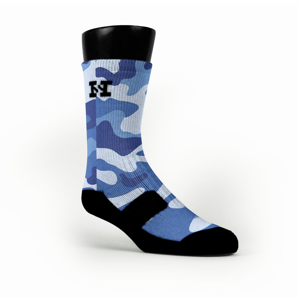 Blue Camo Custom HoopSwagg Socks