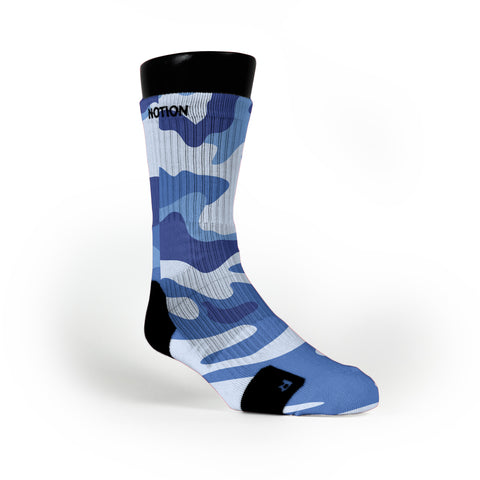 Blue Camo Custom Notion Socks