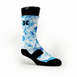 Blue Diamonds Custom HoopSwagg Socks