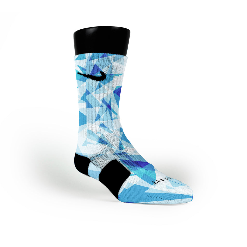 Blue Diamonds Custom Nike Elite Socks