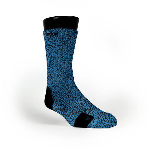 Blue Elephant Print Custom Notion Socks