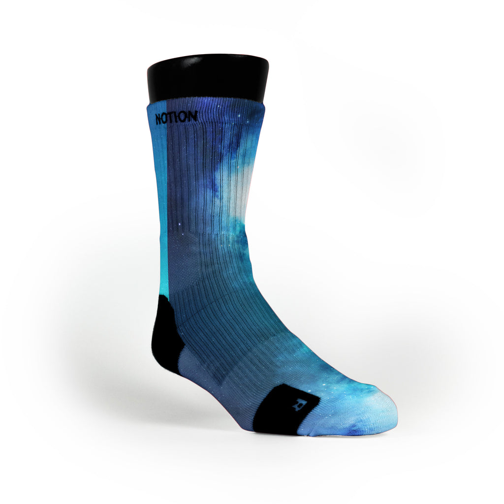 Blue Galaxy Custom Notion Socks