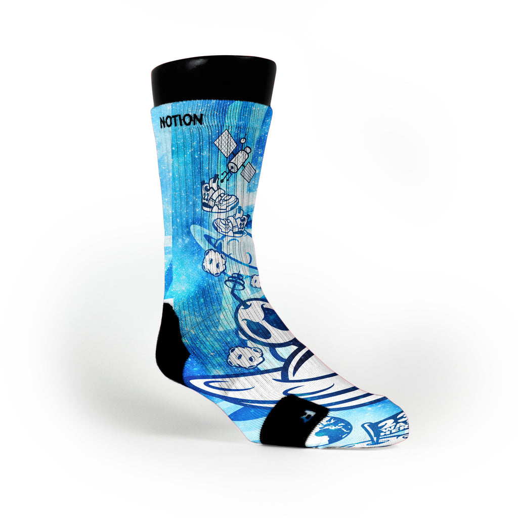 Blue Moon Man Custom Notion Socks