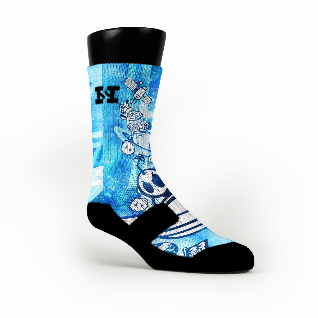 Blue Moon Man Custom HoopSwagg Socks
