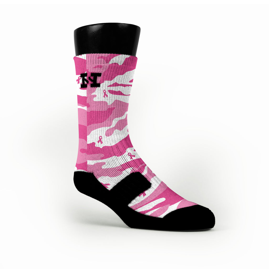 Breast Cancer Camo Custom HoopSwagg Socks