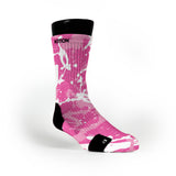 Breast Cancer Frogs Custom Notion Socks