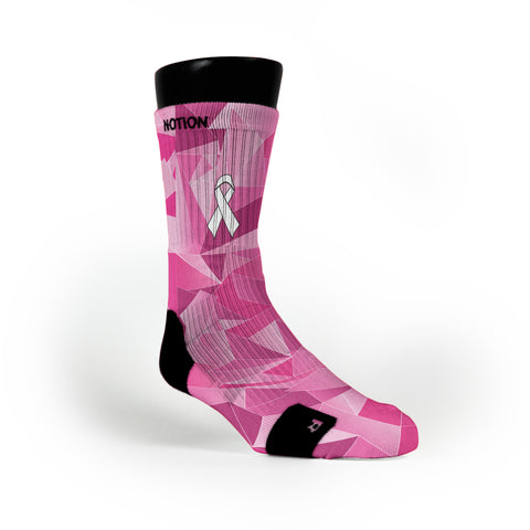 Breast Cancer Prism Custom Notion Socks