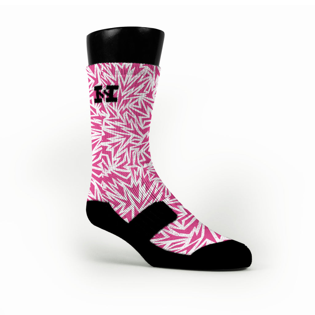 Breast Cancer Shards Custom HoopSwagg Socks